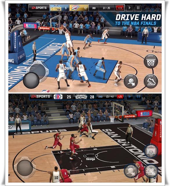 NBA LIVE Mobile Basketball Screenshots