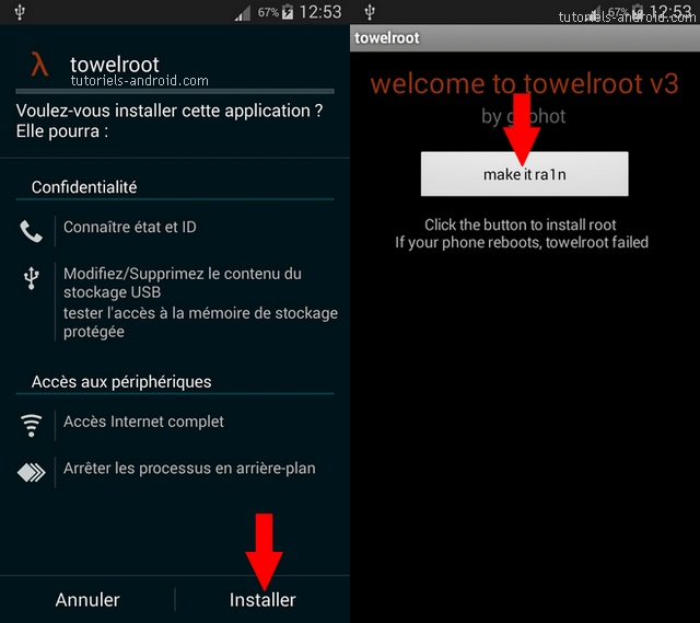 Root avec Towelroot GALAXY Note 3