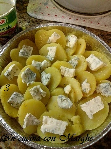 Patate gratinate con gorgonzola