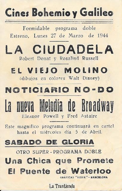 Programa de mano - La Nueva Melodía de Broadway - Fred Astaire - Eleanor Powell