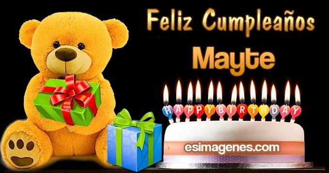 Feliz Cumpleaños Mayte
