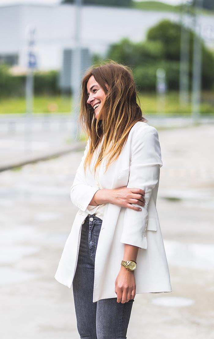 Blazer Blanca , americana , chaqueta,Lucía Díez , es cuestión de estilo , Personal Shopper .
