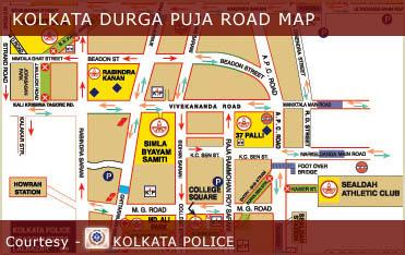 Kolkata Durga Puja Road Maps