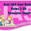 Soal UAS Seni Budaya dan Keterampilan Kelas 2 SD Semester Ganjil