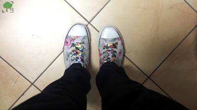 buty szkolne, trampki, kwiaty, folkowe sznurówki, folk, wzory kwiatowe
