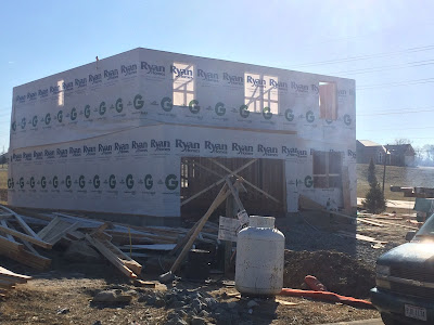 Ryan Homes Milan Framing lumber wrap construction process