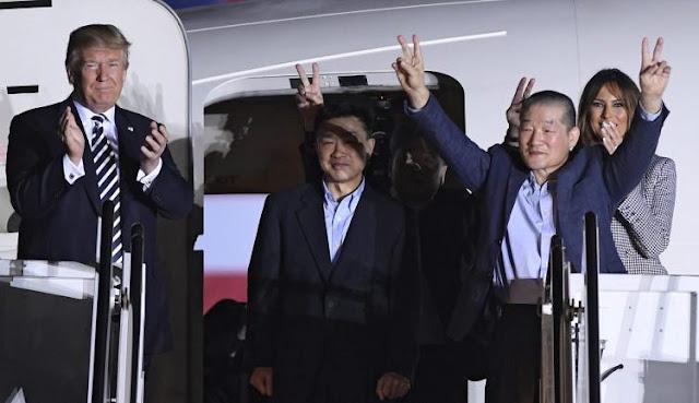 Missionários libertados pela Coreia são recepcionados por presidente dos EUA