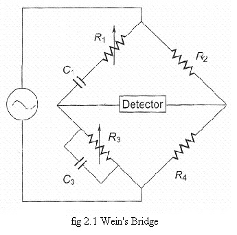 Electronics Notes : Wien's Bridge Circuit and the