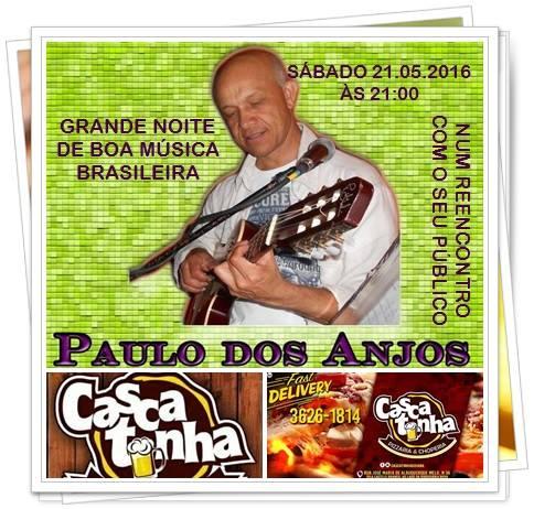 Cantor Paulo dos Anjos realiza show em Grande Noite de Boa Música Brasileira