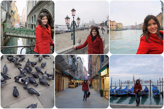 Veneza / Itália / Passeio de Gôndola / Pombos