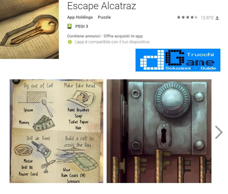 Soluzioni Escape Alcatraz livello 1 2 3 4 5 6 7 8 9 10   Trucchi e  Walkthrough level