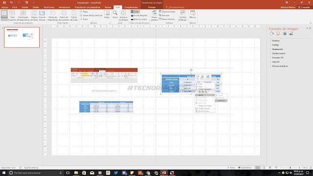 Lineas guia, regla y cuadricula en PowerPoint