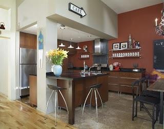 cocina en marrón