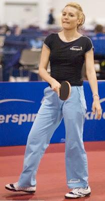 Biljana Golic biba atllet tennis meja cantik dari Amerika serikat wanita model cantik baju ke tennis meja
