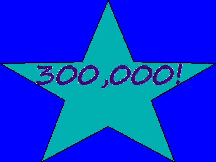 blog, milestone, 300,000 views