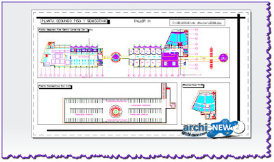 autocad-dwg-3d-file-Aero-centro-floor-commercial-airport-Colombia