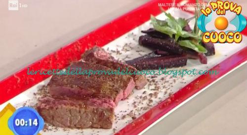 Tagliata di manzo con carote saltate ricetta Fava da Prova del Cuoco