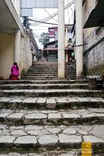 Fansipan Road Stairway Sapa Vietnam
