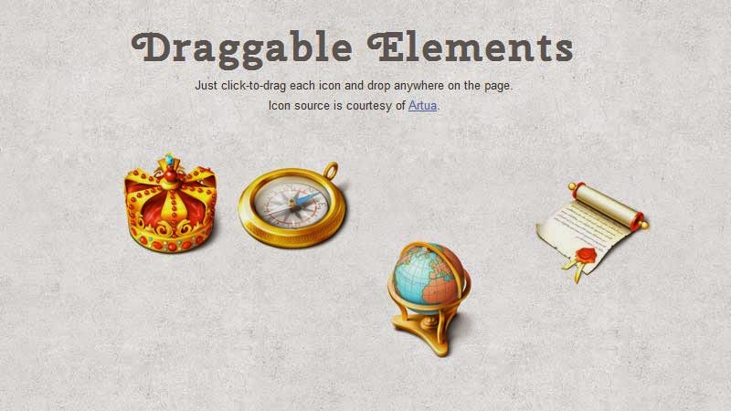 Draggable Page Elements