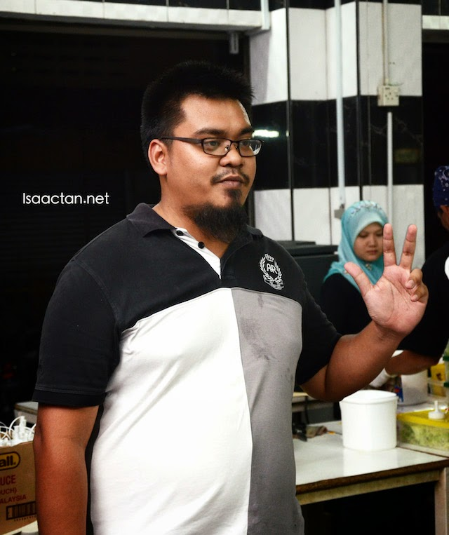 Abang Burn himself introducing his burgers and the promotion