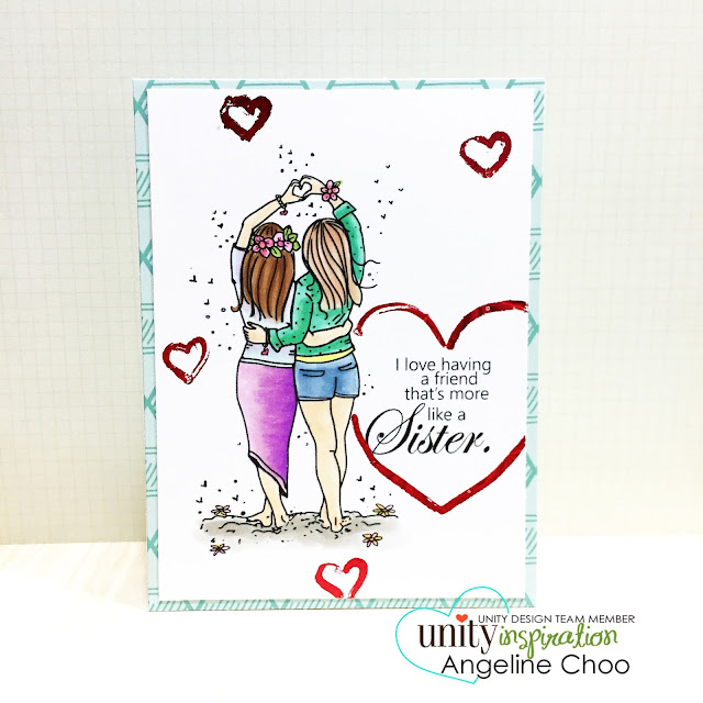 ScrappyScrappy: Frenzy of Unity Cards + [NEW VIDEOS] - More than sisters #scrappyscrappy #unitystampco #card #cardmaking #youtube #quicktipvideo #craft #papercraft #handmade #decofoil #foil #sisters #friendship