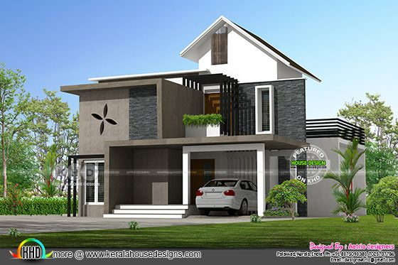 Mixed roof home plan by Aetrio designers