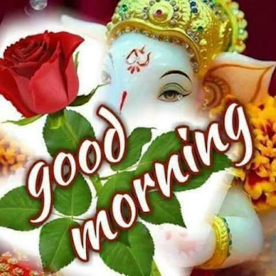 Lord Ganesh Good morning picture for whatsapp