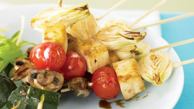 Tofu skewers with Berley