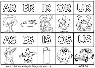 Silabário sílabas complexas