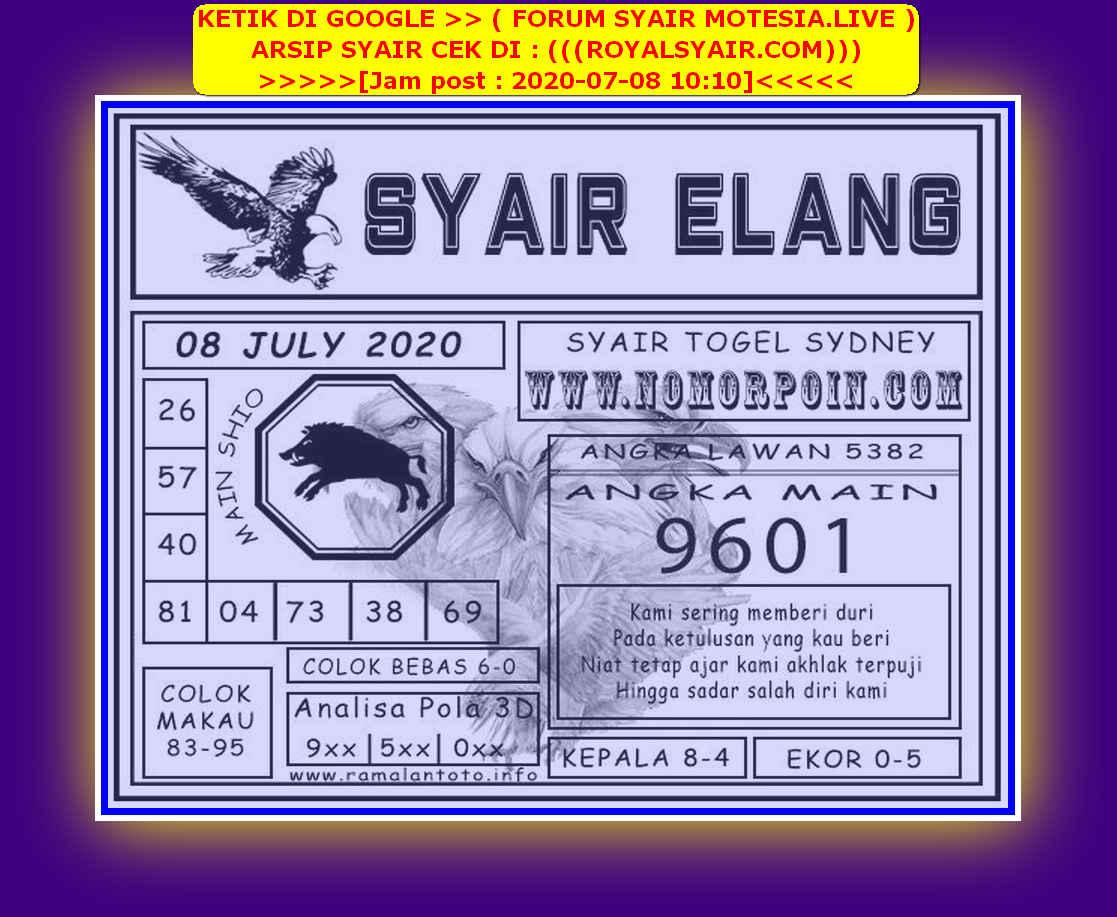 Kode syair Sydney Rabu 8 Juli 2020 148