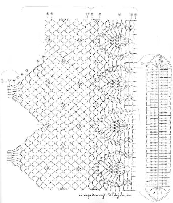 Cartera Crochet en Punto Piñas / Esquema en pdf | Crochet y Dos ...