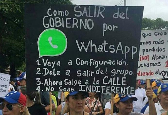 """Rodó: """"HASTA QUE CAIGA… – Hasta los que votaron porel Ilegitimo Nicolas Maduro han tomado la vía de la protesta"""""""