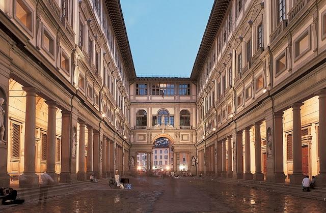 Galeria dos Ofícios na cidade de Florença