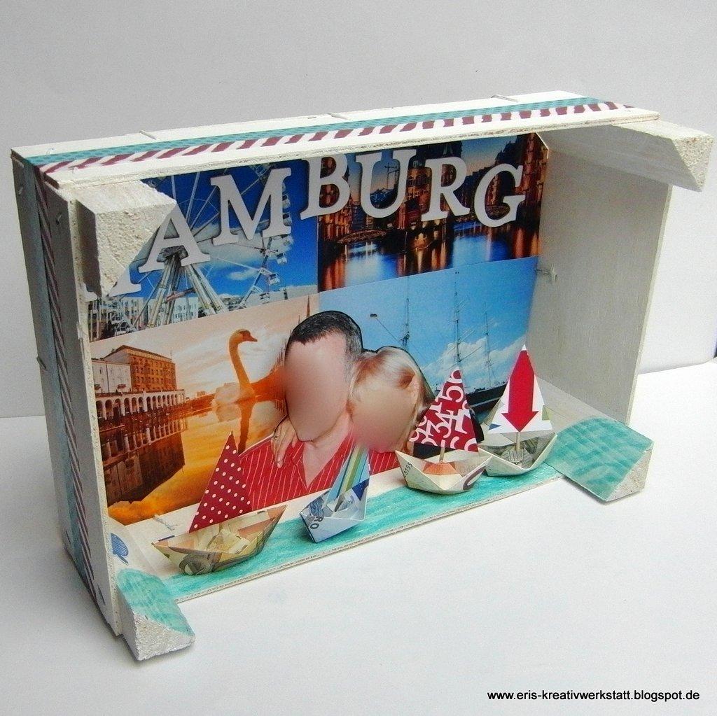 eri 39 s kreativwerkstatt eine reise nach hamburg als geschenk im kasten. Black Bedroom Furniture Sets. Home Design Ideas