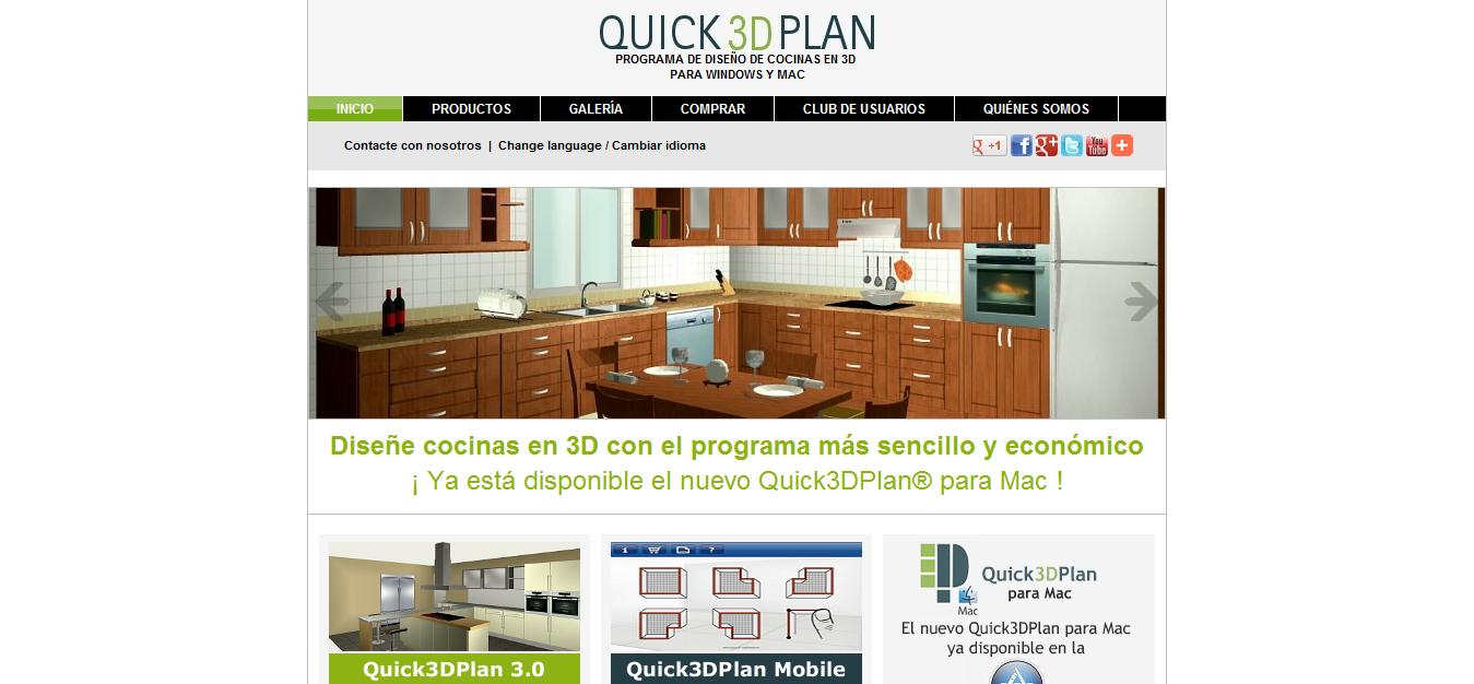 Directorios enlaces quick3dplan programa de dise o de for Programas para disenar cocinas en 3d