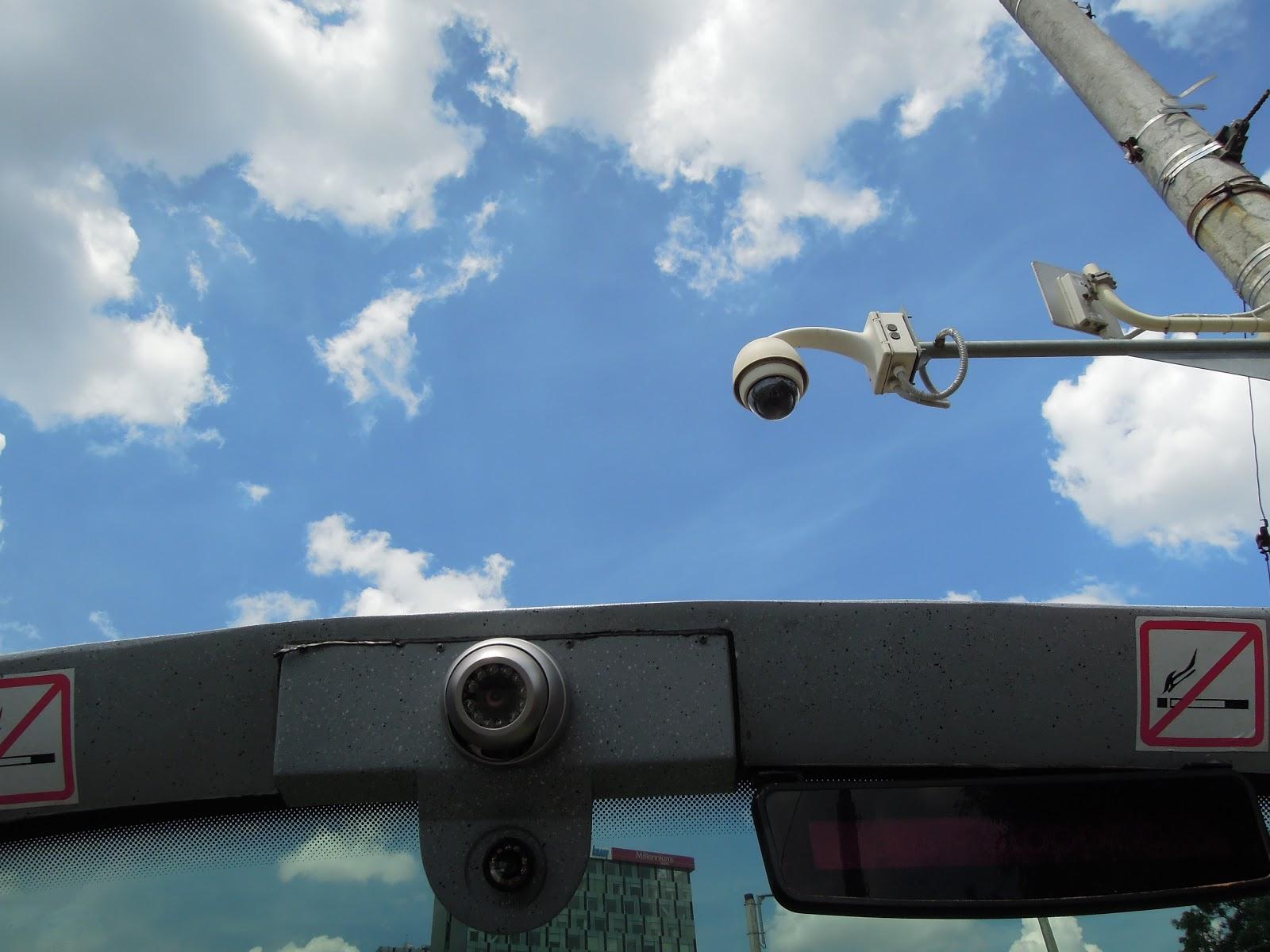 Camera de supraveghere trafic la capat tramvai 41 - CPL