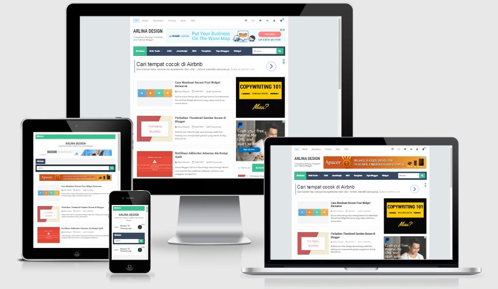 Download Template Blog Arlina Design Gratis - Maxikom | Template ...
