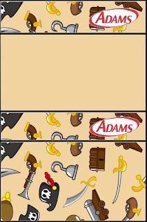 Pirate Party Free Printable Adams Gum Labels.