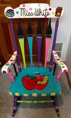 Teacher Rocking Chair Fabric Dining Chairs Walnut Legs Twinkle Teaches Teachers Have Class And School Is Cool Or How To Here A Re Purposed This Would Look Super In My Hub S Art Room