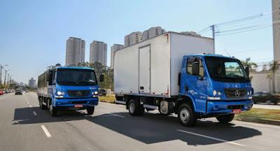 Mercedes-Benz lidera as vendas de caminhões leves