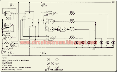 Digital Electronic Dice Circuit Diagram