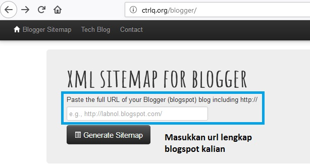 Cara membuat SITEMAP XML untuk BLOGGER