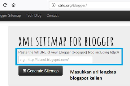 Cara membuat SITEMAP XML untuk BLOGGER dengan mudah