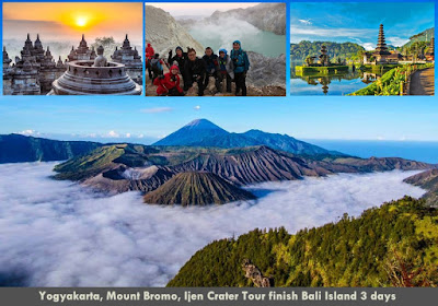 Yogyakarta, Mount Bromo, Ijen Crater Tour finish Bali Island 3 days