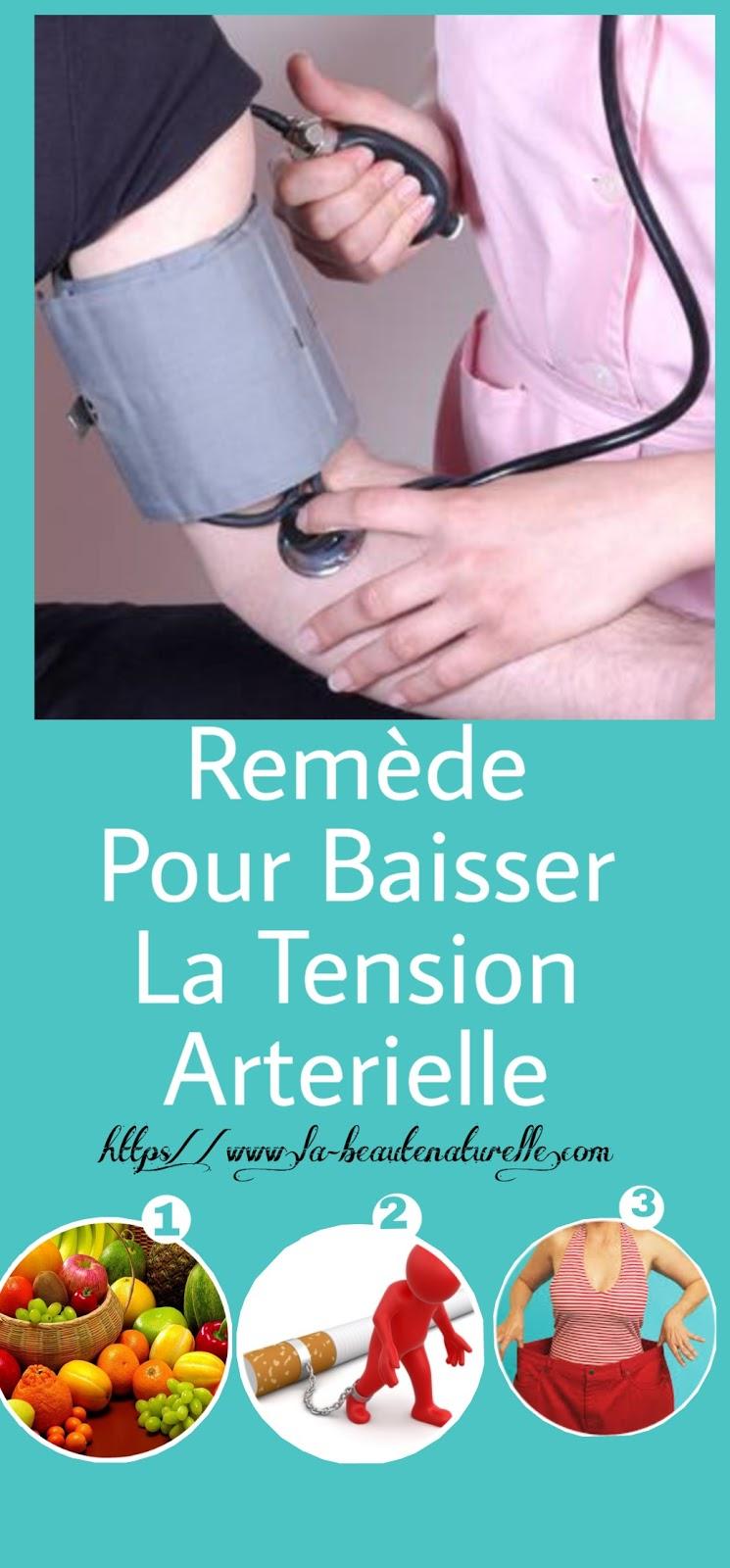 Remède Pour Baisser La Tension Arterielle