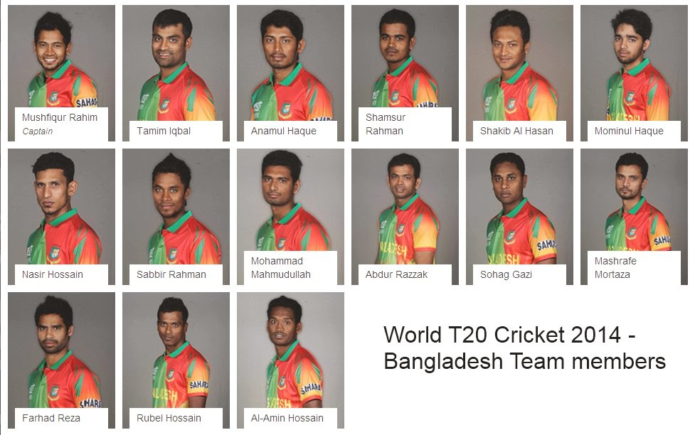 t20 world cricket 2014 bangladesh team squad