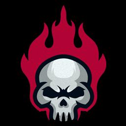 logo tengkorak hitam putih