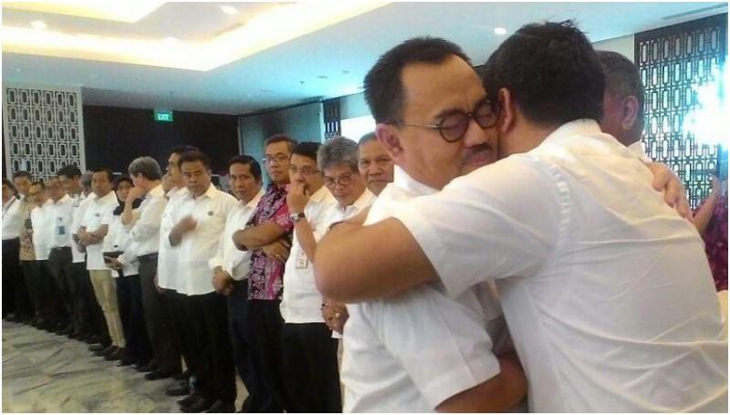 Perpisahan Sudirman Said dengan pegawai Kementerian ESDM
