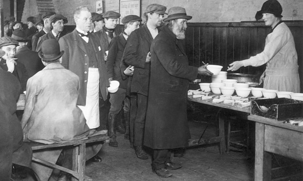 arthur+martha: Queuing for soup. Part 1