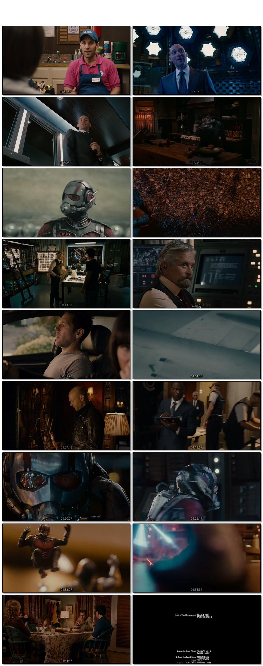Screen Shot Of Ant-Man 2015 In Hindi English Dual Audio Bluray